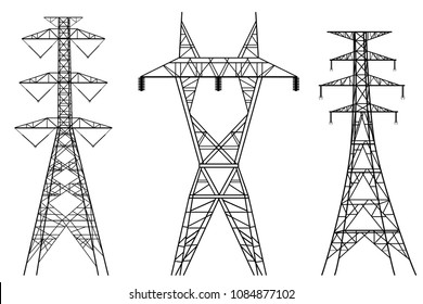High electric tower graphic vector