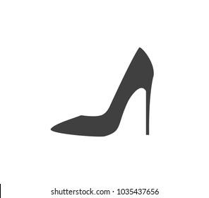High heel. High heel icon.  Shoe icon.