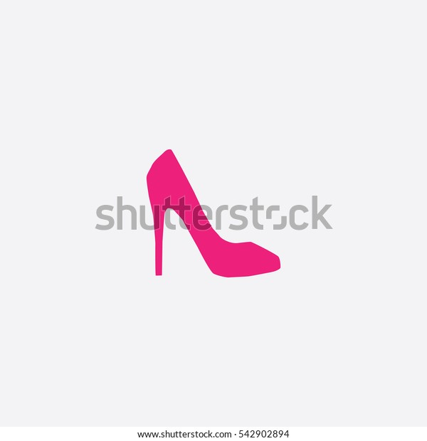 High Heel icon silhouette vector illustration