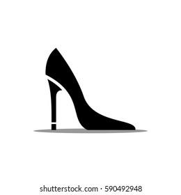 High heel shoe vector icon