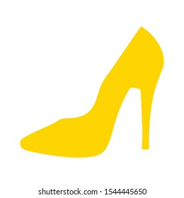 high heel shoes - vector high heel shoes isolated, fashion design silhouette illustration