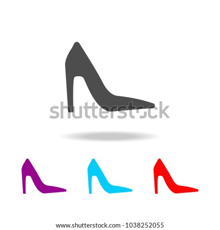 484fbebe2e High heels shoes icon. Elements of clothes in multi colored icons for  mobile concept and