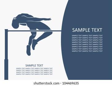 High jump background - vector illustration