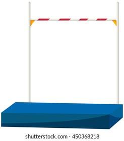 High jump bar and equipment illustration
