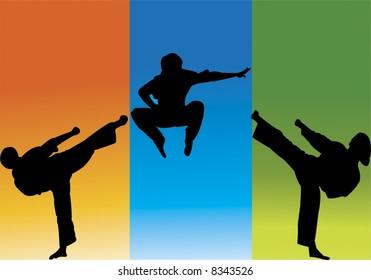 high kick jump