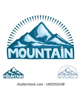 High mountain sign on a white background.