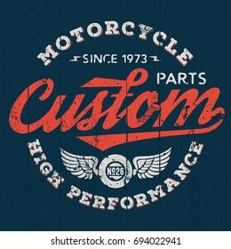 High Performance Custom Motor Parts - Tee Design For Print