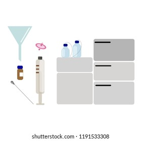 High pressure liquid chromatography with related equipments