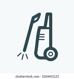 High pressure washer vector icon