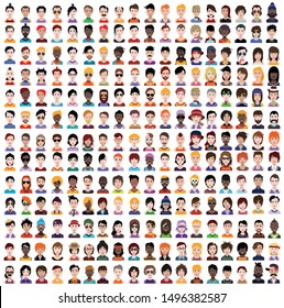 High quality 250 avatar, people vector icons