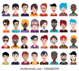 High quality 32 avatar, people vector icons