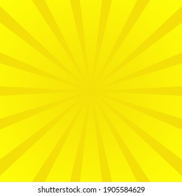 High quality comic book style background. Vector comic banner for text. Yellow.