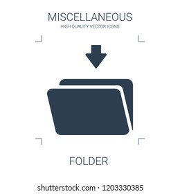 high quality filled folder icon on white background. from miscellaneous collection flat trendy vector folder symbol. use for web and mobile