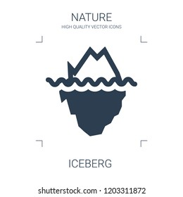 high quality filled iceberg icon on white background. from nature collection flat trendy vector iceberg symbol. use for web and mobile