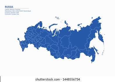 high quality graphic vector of russia map