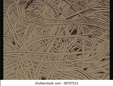 High quality, highly detailed illustration of sea of cables or wires.