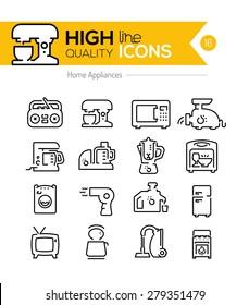 High Quality Home appliances line icons