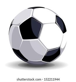 High quality isolated soccer (football) ball for sport art