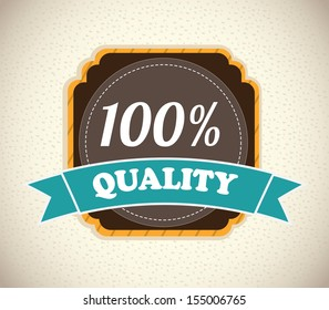 high quality label over pattern background vector illustration