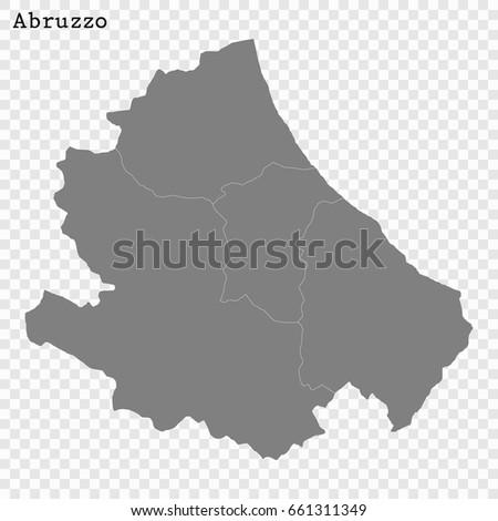 Map Of Italy Abruzzo Region.High Quality Map Abruzzo Region Italy Stock Vector Royalty Free