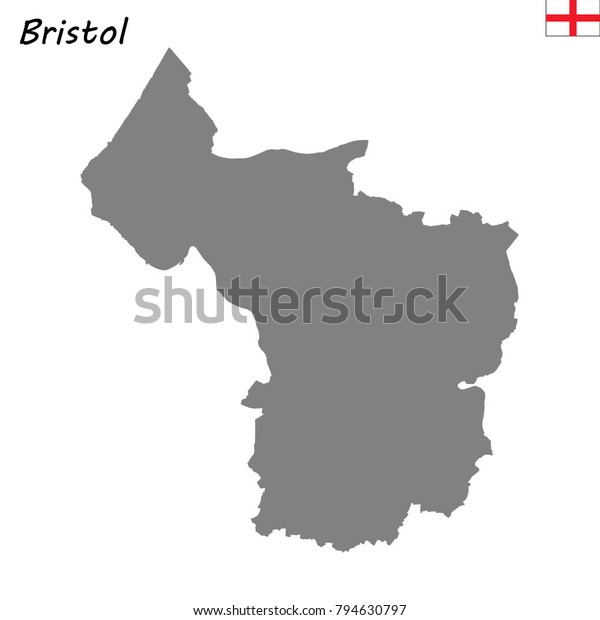 Map Of Bristol England.High Quality Map Bristol Ceremonial County Stock Vector Royalty