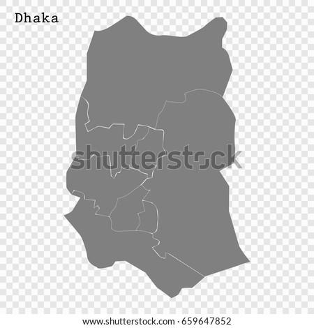 map of dhaka city