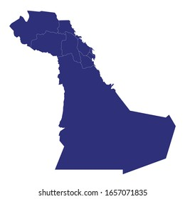 High quality map of Eastern is a province of Saudi Arabia