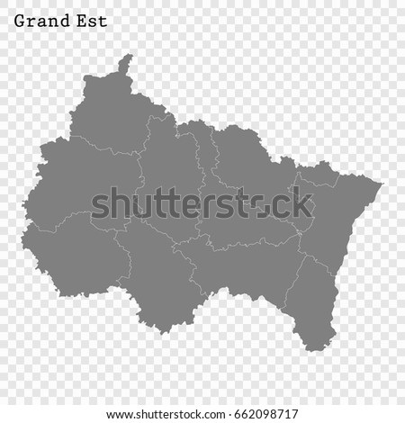 High Quality Map Grand Est Region Stock Vector (Royalty Free ...