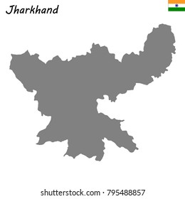 High Quality map of Jharkhand is a state of India
