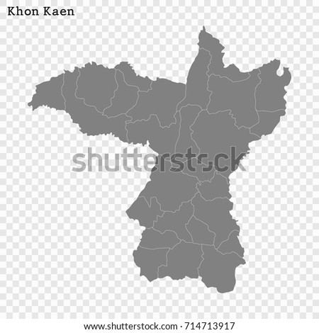 High Quality Map Khon Kaen Province Stock Vector Royalty Free