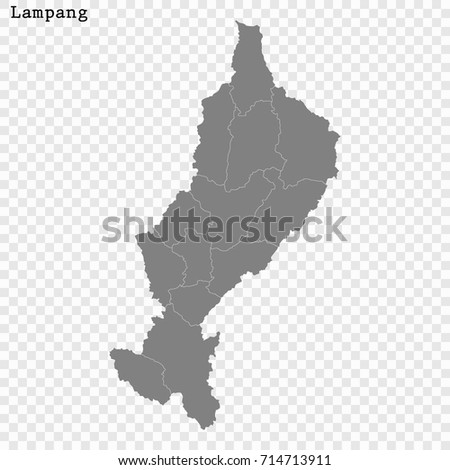 Lampang Thailand Map.High Quality Map Lampang Province Thailand Stock Vector Royalty