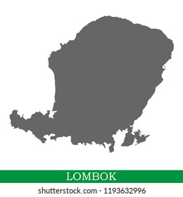 High quality map of Lombok is the island of Indonesia