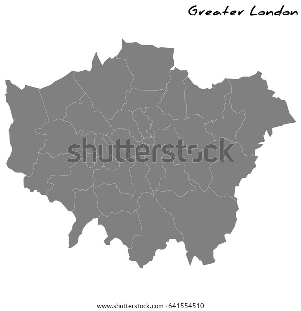 High Quality Map London Greater London Stock Vector Royalty Free 641554510