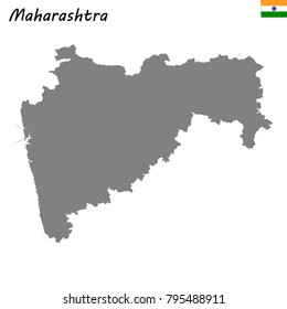 High Quality map of Maharashtra is a state of India
