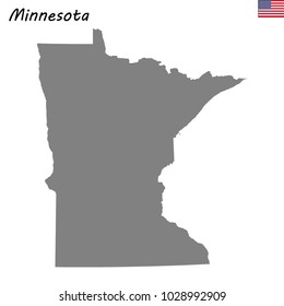 High Quality map of Minnesota is a state of United States