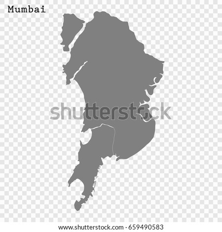 High Quality Map Mumbai City India Stock Vector Royalty Free
