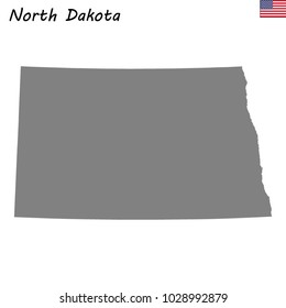 High Quality map of North Dakota is a state of United States