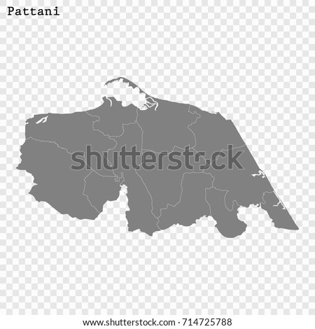 Pattani Thailand Map.High Quality Map Pattani Province Thailand Stock Vector Royalty