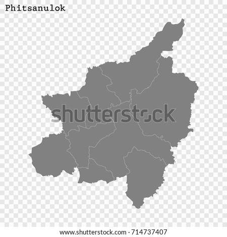Phitsanulok Thailand Map.High Quality Map Phitsanulok Province Thailand Stock Vector Royalty