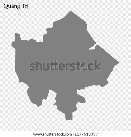 High Quality Map Quang Tri Province Stock Vector Royalty Free