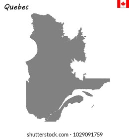 High Quality map of Quebec is a province of Canada
