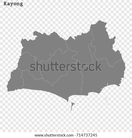 rayong thailand map
