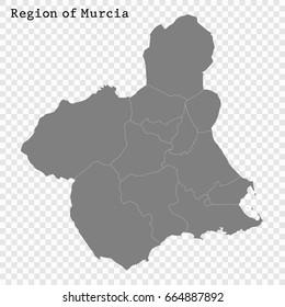 Mapa Region De Murcia.Murcia Map Stock Vectors Images Vector Art Shutterstock