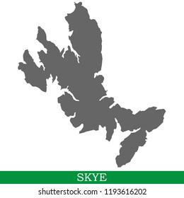High quality map of Skye is a island in United Kingdom