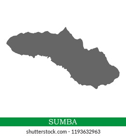 High quality map of Sumba is the island of Indonesia