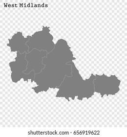 Midlands Uk Map Images Stock Photos Vectors Shutterstock