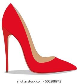 High quality original trendy vector illustration of realistic ladies shoe.