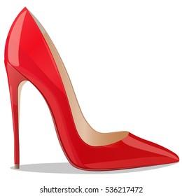 High quality original trendy vector realistic ladies shoe.