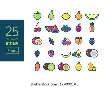 High quality set of Fruit icons