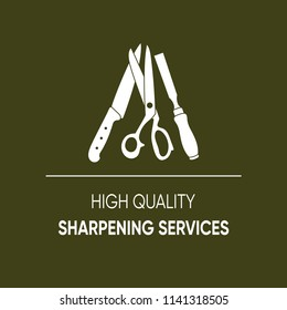 High quality sharpening services icon vector illustration